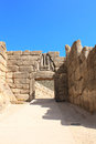 Lion gate archaeological site of mycenae greece the Royalty Free Stock Image