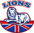 Lion Great Britain union jack flag Royalty Free Stock Images