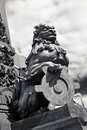 Lion guard sculpture Royalty Free Stock Images