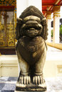 Lion guard of temple thailand Royalty Free Stock Photos