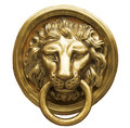 Lion Head Door Knocker Stock Image