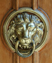 Lion Head Door Knocker Royalty Free Stock Photo