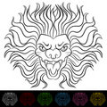 Lion Head Drawing Stock Image