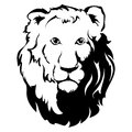 Lion head icon tattoo vector llustration this is file of eps format Royalty Free Stock Photos