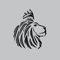 Lion Head Illustration With A ...