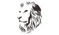 LION HEAD LINE ART DRAWING ILLUSTRATION