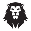 Lion head logo template. Animal wild cat face graphic sign. Pride, strong, power concept symbol Royalty Free Stock Photo