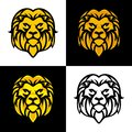stock image of  Lion Head Mascot or Logo Vector Design