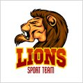 Lion head mascot - vector illustration for sport