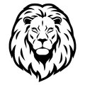 Lion head stylized illustration of male lion's Royalty Free Stock Image