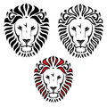 Lion head tattoo Stock Images