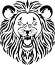 Lion head tattoo Royalty Free Stock Image