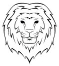 Lion head tattoo illustration Foto de archivo libre de regalías