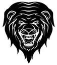 Lion head tattoo illustration Fotografía de archivo libre de regalías