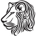 Lion head tribal tattoo Stock Photography