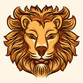 Lion head vector illustration Royalty Free Stock Photo