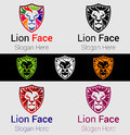 Lion head - vector logo template creative illustration. Animal wild cat face graphic sign. Pride, strong, power concept symbol. Royalty Free Stock Photo