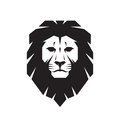 Lion head - vector sign concept illustration. Lion head logo. Wild lion head graphic illustration. Royalty Free Stock Photo