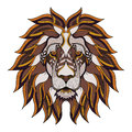 Lion head zentangle, doodle stylized, vector, illustration, hand