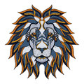 Lion head zentangle, doodle stylized, vector, illustration, Royalty Free Stock Photo