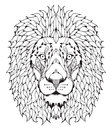 Lion head zentangle stylized Royalty Free Stock Photo