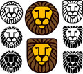 Lion Heads - Set Of Eight