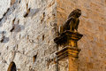 Lion on the House Facade in Volterra, Tuscany Royalty Free Stock Image