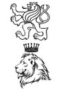 Lion illustration a pair of illustrations for coat of arms or heraldic design Stock Image