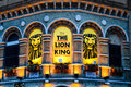 Lion king performing lyceum theatre theater which london s west end Royalty Free Stock Image