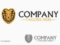 Lion logo please look at my other logos icons Stock Photography
