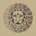 Lion Logo Vintage Style Royalty Free Stock Photo