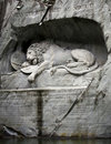 Lion of Lucerne, Switzerland Stock Image