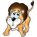 Lion and monkey Royalty Free Stock Photos