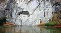 Lion Monument  (Luzern, Switzerland) Royalty Free Stock Photo