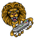Lion Player Gamer Mascot