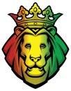 Lion rasta head Royalty Free Stock Photo