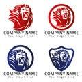 Lion roar concept logo design template for your business Stock Images