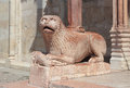 Lion romanesque statue Royalty Free Stock Photo