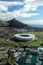 Lion s head cape town aerial view of and the soccer stadium of south africa Stock Image