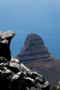 Lion s head mountain view from table mountain cape town south africa Royalty Free Stock Images