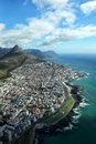 Lion s head and seapoint aerial view of a suburb of cape town south africa Stock Photo