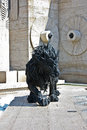 Lion sculpture and cascade in yerevan armenia Royalty Free Stock Photography