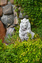 Lion sculpture in garden Royalty Free Stock Photo