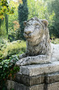 Lion sculpture in park area Stock Photography