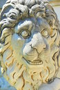 Lion sculpture peles castle statue on the front terraces of the palace symbol of power and royalty Royalty Free Stock Photo