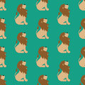 Lion seamless pattern