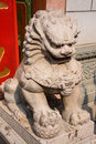 Lion Statue, ancient Chinese traditional arts Royalty Free Stock Photo
