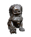 Lion Statue isolate on white Royalty Free Stock Photos
