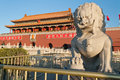 Lion statue near tienanmen gate the gate of heavenly peace be beijing china dec on dec is a famous monument in beijing Stock Images