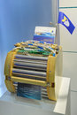 Lion storage battery large capacity zhukovsky moscow region russia aug at the international aviation and space salon maks Stock Image